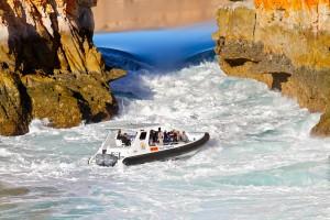 Horizintall falls fast boat