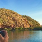 Taking a photo in the Kimberley