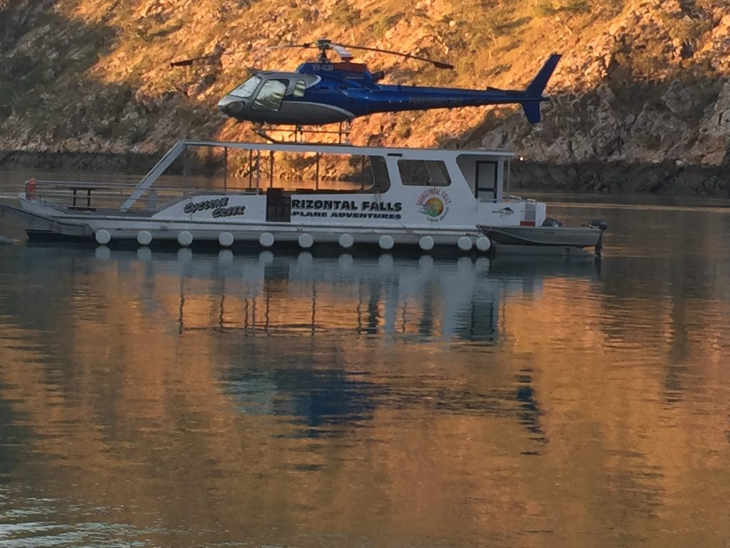 Horizontal Falls – Boat – Helipad – Compass Helicopters